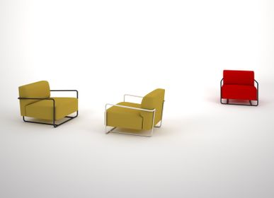 Sofas for hospitalities & contracts - Armchair / sofa BOLT 72 & 128 - design Sergio BALLESTEROS for PIKO Edition. - PIKO EDITION.