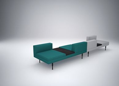 Benches for hospitalities & contracts - Modular seats ARY - design Sergio BALLESTEROS for PIKO Edition. - PIKO EDITION.