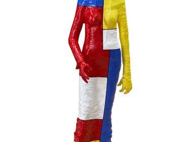 Sculptures, statuettes et miniatures - Sculpture Jardin Party «Mondrian» - RONAYETTE MARIE-NOELLE