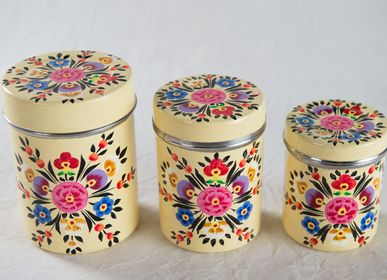 Caskets and boxes - Hand-painted metal boxes - PECHAAN