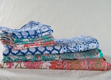 Bed linens - HOUSSE DE COUETTE COTON BLOCK PRINT  - PECHAAN