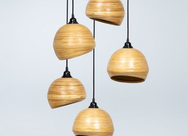 Design objects - GLOU handmade bamboo hanging lamp, pendant light, cluster - BAMBUSA BALI