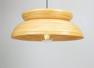 Hanging lights - KUBA handmade bamboo hanging lamp, pendant light for kitchen, dining table and hallway - BAMBUSA BALI