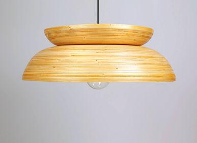 Suspensions - KUBA Suspension en bambou fait main pour cuisine, table à manger et couloir - BAMBUSA BALI