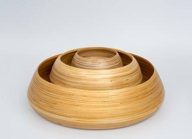 Platter and bowls - AGUNG bamboo handmade bowls of food-grade materials - BAMBUSA BALI