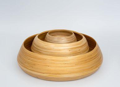 Platter and bowls - AGUNG bamboo handmade food-grade bowls - BAMBUSA BALI