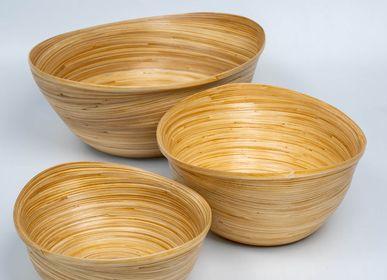 Platter and bowls - SULAWESI bamboo handmade bowls of food-grade materials - BAMBUSA BALI