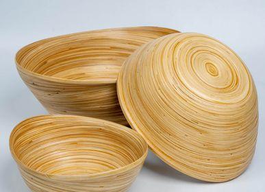 Platter and bowls - SULAWESI handmade bamboo bowls - BAMBUSA BALI