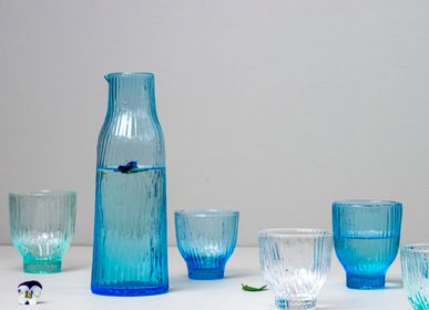 Glass - Amnis Glass (mint, blue, clear glass) - KINTA
