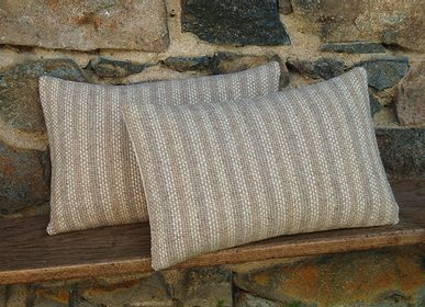 Fabric cushions - 4-TONE STRIPED CUSHION - LA TISSERIE