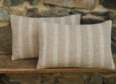 Fabric cushions - 3-TONE STRIPED CUSHION - LA TISSERIE