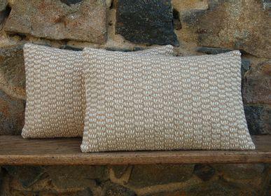 Fabric cushions - WHITE GRAIN CUSHION - LA TISSERIE