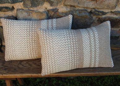 Fabric cushions - WHITE ZAI CUSHION - LA TISSERIE