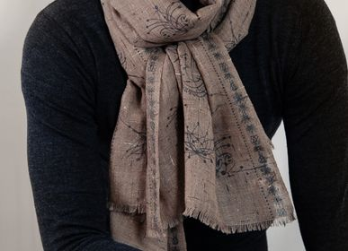 Scarves - SCARF ASTRAL WOOL SILK - PETRUSSE PARIS