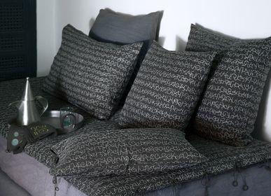 Fabric cushions - LEHEZA Embroidered Cushion Cover - NO-MAD 97% INDIA
