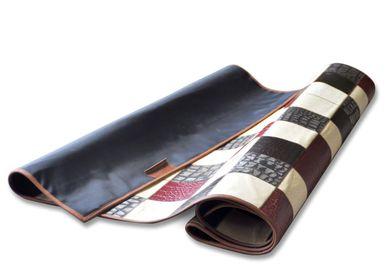 Design carpets - LEATHER PATCHWORK RUG  - GLADYS