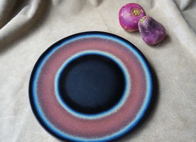 Ceramic - FLAT PLATE WITH EFFECT ENAMELS - SATURN - VIREBENT