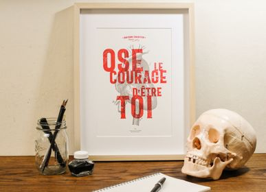 Poster - Art print Dare the Courage to be You - L'ATELIER LETTERPRESS