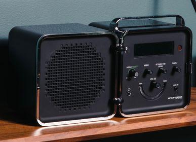 Speakers and radios - radio.cubo 50° black - BRIONVEGA