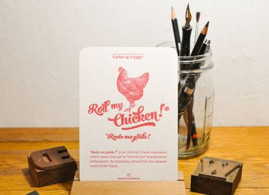 Card shop - Card Roll my Chicken - L'ATELIER LETTERPRESS