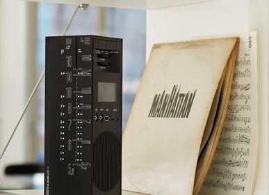 Speakers and radios - radio grattacielo RR327D+S black - BRIONVEGA