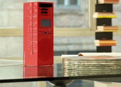 Speakers and radios - radio grattacielo RR327D+S red - BRIONVEGA