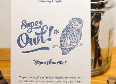 Card shop - Card Super Owl - L'ATELIER LETTERPRESS