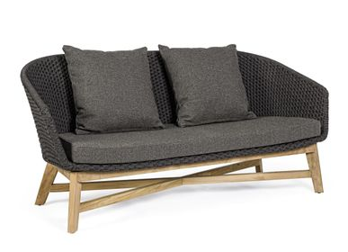 Sofas - COACHELLA CHARCOAL SOFA 2SEATS W-CUSH - BIZZOTTO ANDREA