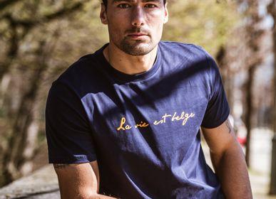 Prêt-à-porter - T-shirt Homme Bleu Marine  - LA VIE EST BELGE