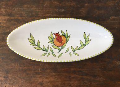 """Assiettes de réception - Piatto ovale """"Frutta e Fiori"""" - AMARETTI ANTONELLA"""