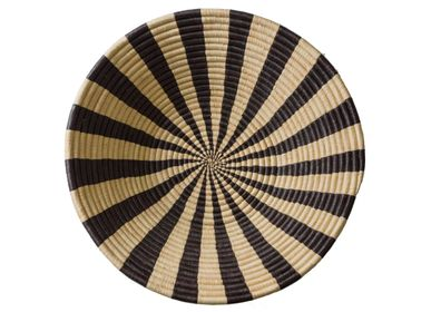 "Other wall decoration - 20"" Striped Black + Natural Deep Round Basket - ALL ACROSS AFRICA + KAZI"