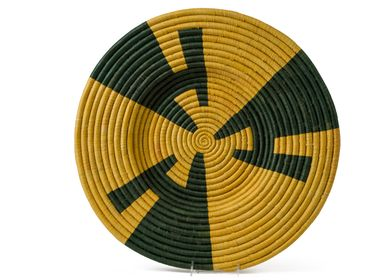 "Other wall decoration - 21"" Mustard + Evergreen Wall Art Plate - ALL ACROSS AFRICA + KAZI"