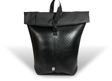 Bags and totes -  BIKE DESIGN BACKPACK IN RECYCLED INNER TUBE  - RUE RANGOLI