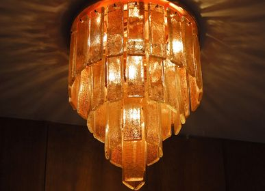Ceiling lights - Charleston, ceiling lamp with Murano glass plates - MULTIFORME
