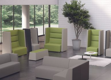 Sofas for hospitalities & contracts - armchair and sofa set TRES - ARTE & D