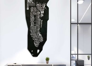Decorative objects - New York leather city map - Wall decoration - FRANK&FRANK