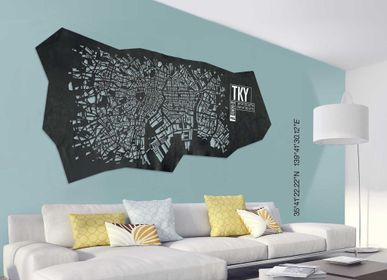 Design objects - Tokyo leather city map - Wall decoration - FRANK&FRANK