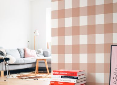 Other wall decoration - Gingham Wallpaper - ALL THE FRUITS