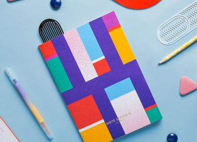 Stationery - A5 Double Cover Notebook | Super Pixelone - WRITE SKETCH &