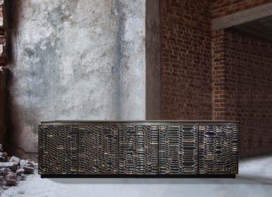 Sideboards - Metallic python cabinet - VIYA HOME