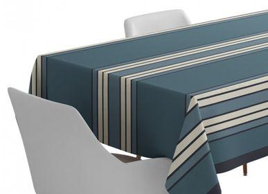 Table linen - Espelette Bleu Nuit Cotton Satin Tablecloth (several sizes available) - LA MAISON JEAN-VIER
