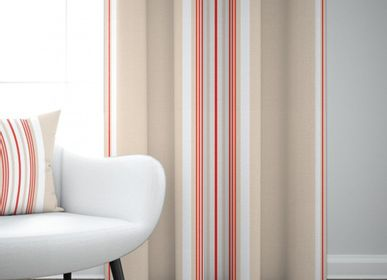 Curtains and window coverings - Cotton Curtain Donibane Fraise - LA MAISON JEAN-VIER