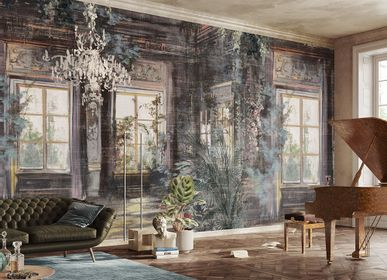 Wallpaper - Trompe l'oeil Window and Garden Fufluns Wallpaper Mural - LA MAISON MURAEM