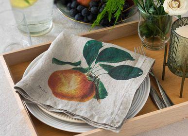 Table linen - 100% Linen Napkins 6-set ǀ Fruits - LINOROOM