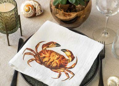 Cadeaux - Serviettes en lin lavé ǀ  La vie marine - LINOROOM