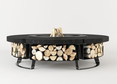 Lawn tables - HETTA SUPPLY ROUND | GARDEN TABLE WITH FIREPLACE | - HETTA SUPPLY