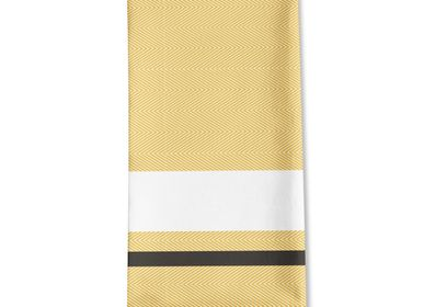 Linge de table textile - Serviette de table en coton Donibane Laiton - LA MAISON JEAN-VIER
