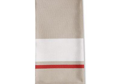 Linge de table textile - Serviette de table en coton Donibane Fraise - LA MAISON JEAN-VIER