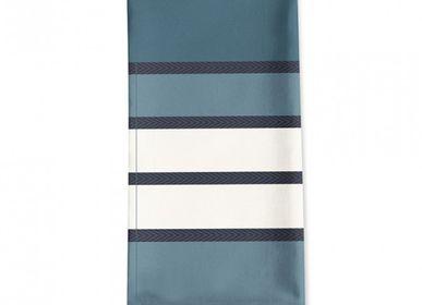 Linge de table textile - Serviette de table en coton Espelette Bleu Nuit - LA MAISON JEAN-VIER