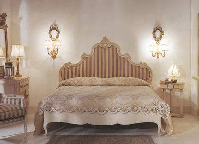 Beds - Brushed and Hand-painted French Provincial Beds - INTERIORS ITALIA